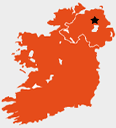 Map of Northern And Southern Ireland